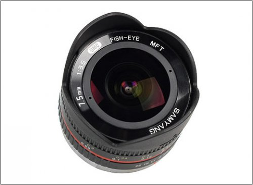 Объектив Samyang 7.5mm f/3.5 UMC Fish-eye Micro 4/3