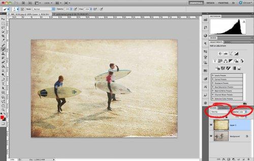 как применить текстуру в фотошопе: