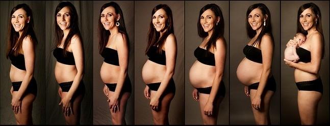 На каком сроке лучше фотографироваться беременной
