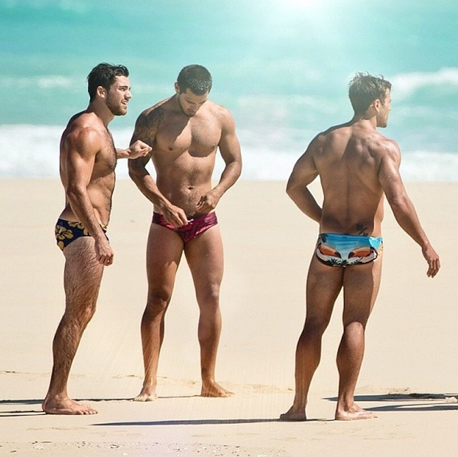 Beach gay leather long